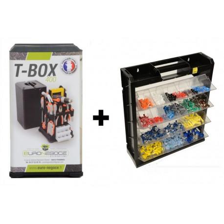 Lot de 2 Boites de Rangement TBox 400+Flipper Box