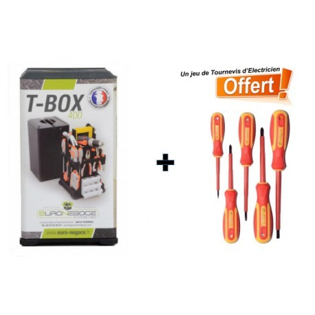 Boite à Outils TBox 400 +1 jeu de tournevis offert
